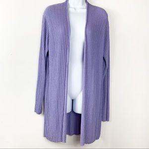 Eileen Fisher| open front longline cardigan